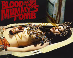Blood From the Mummy's Tomb - Sarcophagus with Title Logo