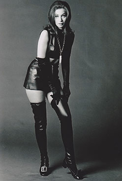 B&W Leather Dress Publicity Shot